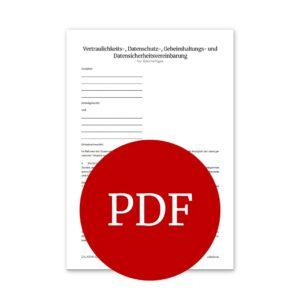 Produktfoto Vertraulichkeitsverpflichtungsvorlage